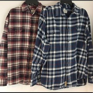 Jachs (2) Plaid Flannel Button Down Shirts 2XL